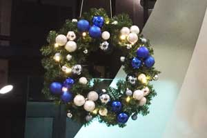 60cm wreath with lights
