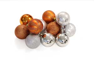 Orange & silver
