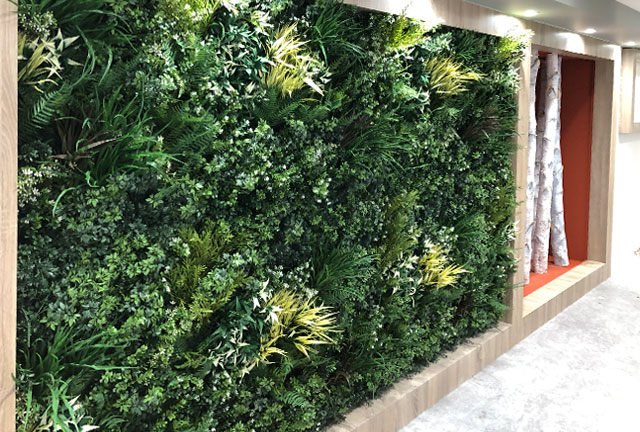 High quality fake green wall