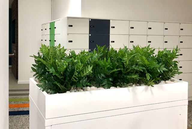 Fake plants for storage unit